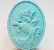 Longzang Horse Mould S350 Craft Art Silicone Soap Mould Craft Moulds DIY Handmade Candle Moulds