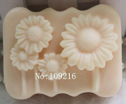 Creativemoldstore 1pcs Small Sunflower(zx226) Craft Art Silicone Soap Mould Craft Moulds DIY Handmade Soap Mould