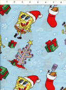 "Springs ""Sponge Bob"" Nickelodeon Christmas Holiday Fabric"