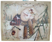 Matte Finish Deluxe Gift Bag - Woodland Snowman (Large