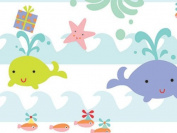 Sea Babies Premium Gift Wrapping Roll 60cm x 41cm - Birthday Baby Gift