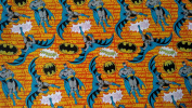 Batman Wrapping Paper Comic Style Gift Wrap, 2.1sqm