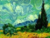Art NeedlepointPretty Sky against Cypress Kit by Van Gogh Needlepoint Kit