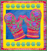 Art Needlepoint Mittens Kit by Two Can Art Needlepoint Kit