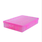 TOPWEL 15 Slots Adjustable Clear Hard Plastic Jewellery , Ring Earring,beads, Sewing,pills,accessories Storage Box