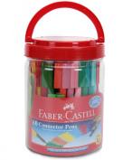 Faber Castell 60 Sketch Pens Clip-On Connector Colour Colour Marker Pen Set