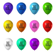Funny Guy Mugs 50th Birthday - 18,262 Days Young But Who's Counting. Balloons, 12-Pack, Assorted