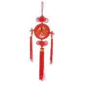 Red Handcraft Fish Detailing Chinese Knot for Auto Hanging Decor