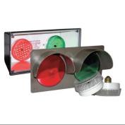 TAPCO 108982 Horiz Traffic Signal, Red/Grn, 3-7/8 x14x7