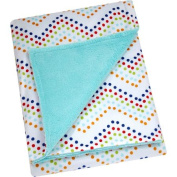 Pinwheel Printed Velboa Blanket, Chevron Dot, Unisex