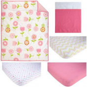 Pinwheel Floral Fusion 3-Piece Crib Bedding Set