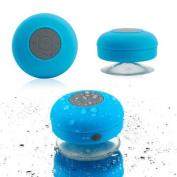 Mini Wireless Portable Shower Car Waterproof Bluetooth Handsfree Mic Speaker with Suction Cup - Blue