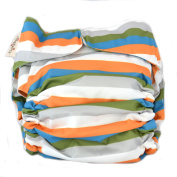 CuteyBaby All-in-One Nappy - One Size Fits All - Stripes