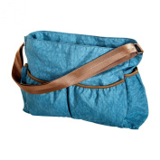 Trend Lab Blue Crinkle Tote Nappy Bag, Blue
