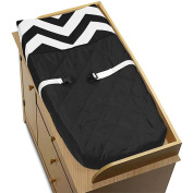 Sweet Jojo Designs Black and White Chevron Collection Changing Pad Cover
