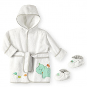 Koala Baby Neutral Bath Robe & Booties - Hippo