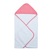 Trend Lab Cocoa Coral Dot Hooded Towel Bouquet