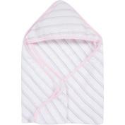 MiracleWare Pink & Grey Stripes Muslin Hooded Towel