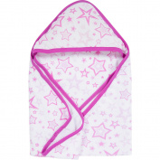 MiracleWare Pink Stars Muslin Hooded Towel