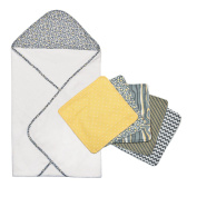 Trend Lab 6pc Hello Sunshine Hooded Towel and Wash Cloth Bouquet Set