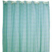 Pam Grace Creations Zigzag Elephant Cotton Shower Curtain