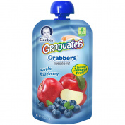 Gerber Graduates Grabbers Squeezable Fruit Apple Blueberry Pouch - 130ml