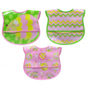 Hamco Girl 3 Pack PEVA Hedgehog Bibs