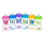 Nuby No Spill Soft Spout Designer Series 300ml Cup - Colours/Styles may vary