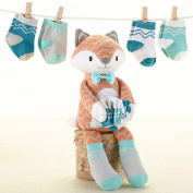 "Baby Aspen ""Mr. Fox in Socks"" Plush Plus Socks for Baby"