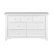 Baby Cache Harbour 7 Drawer Dresser - White