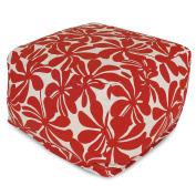 Majestic Home Goods Plantation Large Ottoman - Red