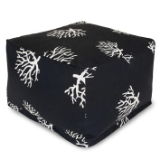 Majestic Home Goods Coral Large Ottoman - Black