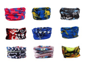 Pack of 9PCS, Outdoor Multifunctional Sports Magic Scarf, Magic Bandanas Tube, Seamless Scarf, Collars Muffler Scarf Face Mask, High Elastic Magic Headband with Uv Resistance, Headscarves, Headbands