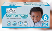 Member's Mark Comfort Care Ultra-Soft SilkSpun Hypoallergenic Disposable Baby Nappies (Choose Your Size) (Size 6