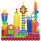 100x Multicolor Kids Baby Snowflake Creative Building Blocks Educational Toy DIY