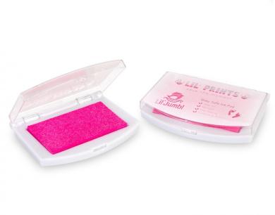 Lil' Jumbl Reusable Hand & Foot Memory Keepsake Inkpad - 100% Safe for Baby - Pink