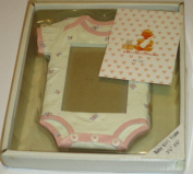 Baby Girl Photo Frame ... Onesie ... holds 8.9cm x 13cm picture