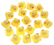 20pcs/set OPCC Mini Yellow Rubber Bath Ducks for Child ,Rubber Duck Bath Toy Baby Shower Birthday Party Favours