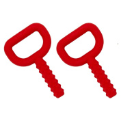 Chewy Tubes Super Tubes Red Teether - 2 Count
