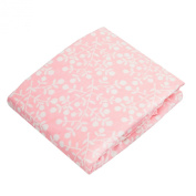 Kushies Baby Fitted Bassinet Sheet, Pink Berries