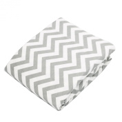 Kushies Baby Fitted Bassinet Sheet, Grey Chevron