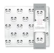SwaddleDesigns Muslin Swaddle Blanket, Panda Face