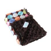 Allyzabba Chocolate-Dot Baby Blanket Large - Chocolate