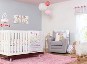New Baby Girls Pink Butterflly 7pcs Crib Cot Bedding Set,Neutral,Natural,Animal,Safari