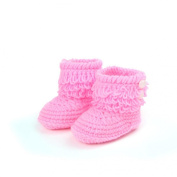 Malloom Newborn Baby Handmade Boots Crochet Knit Snow Booties First Walk Shoes