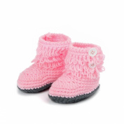 Malloom Newborn Infant Handmade Boots Crochet Knit Snow Booties Warm Shoes