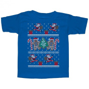 Lost Gods Santa's Adventure Ugly Christmas Sweater Print Toddler T Shirt