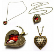 #3 Vintage Bronze Peacock Heart Cross Drop Pendant Sweater Necklace by 24/7 store