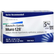 Bausch & Lomb Muro 128 Ointment 5% 2-Pack 7 g