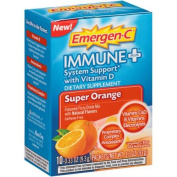 Emergen-C Immune+ System Support with Vitamin D Dietary Supplement Drink Mix Super Orange - 10 CT